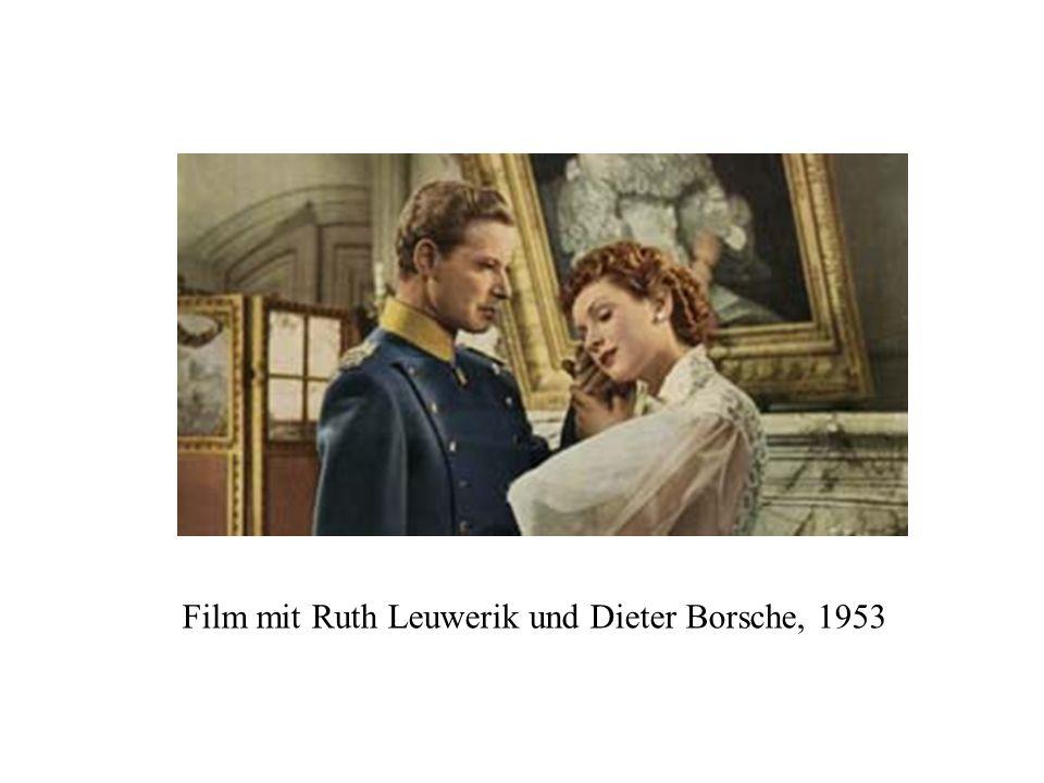 Film mit Ruth Leuwerik und Dieter Borsche, 1953