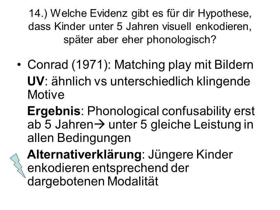 Conrad (1971): Matching play mit Bildern