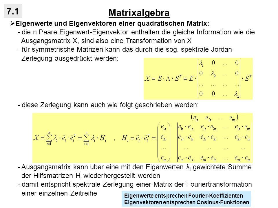Matrixalgebra7.1. Eigenwerte und Eigenvektoren einer quadratischen Matrix: