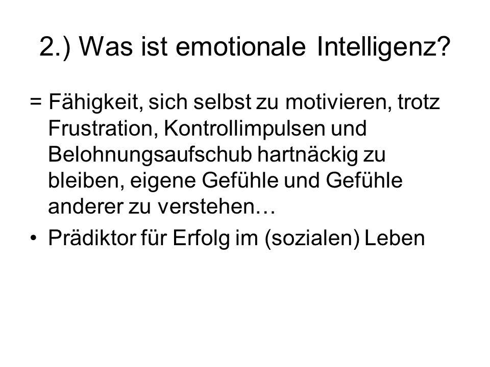 2.) Was ist emotionale Intelligenz