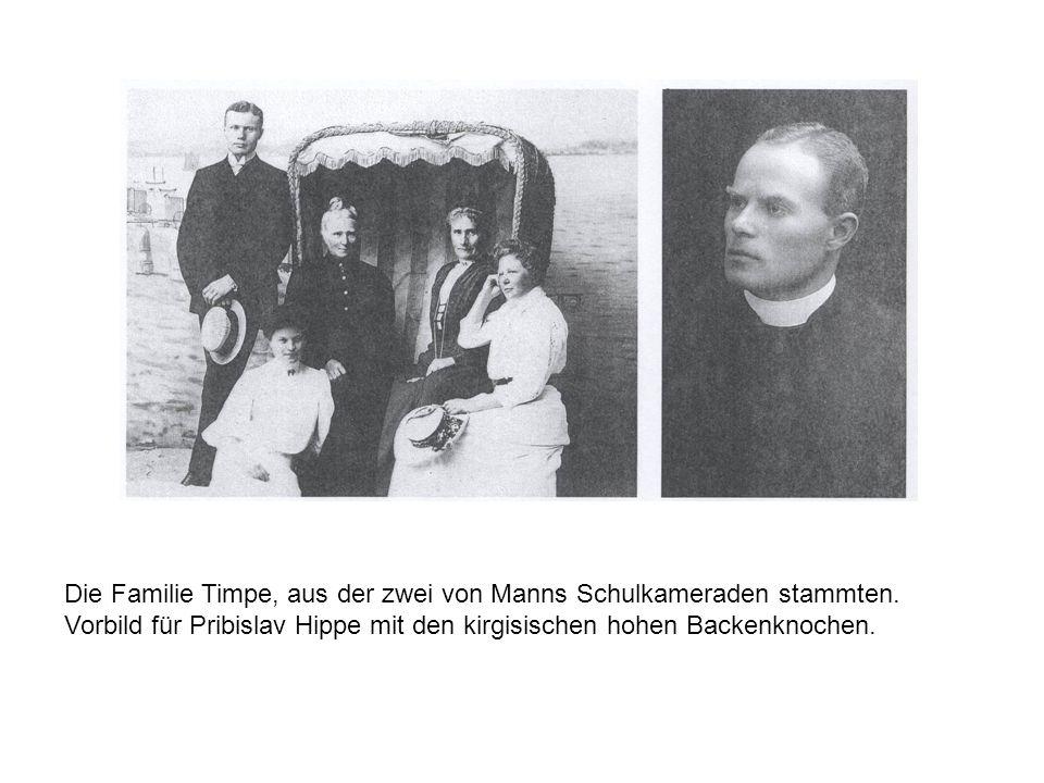 Die Familie Timpe, aus der zwei von Manns Schulkameraden stammten