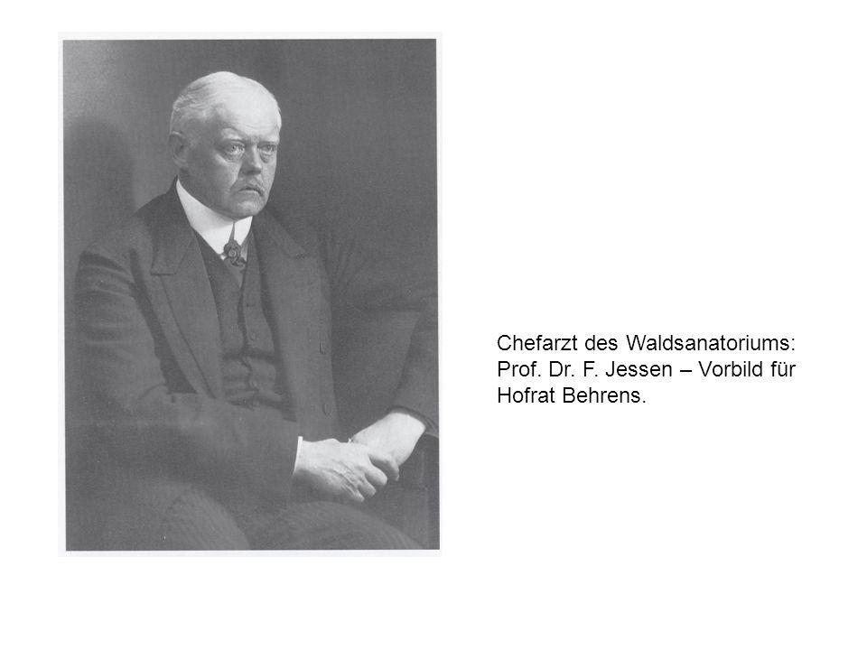 Chefarzt des Waldsanatoriums: Prof. Dr. F