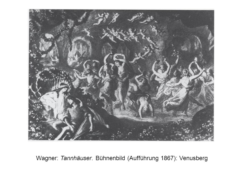 Wagner: Tannhäuser. Bühnenbild (Aufführung 1867): Venusberg