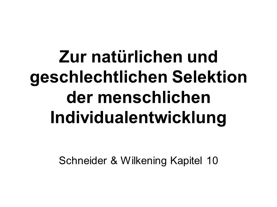 Schneider & Wilkening Kapitel 10