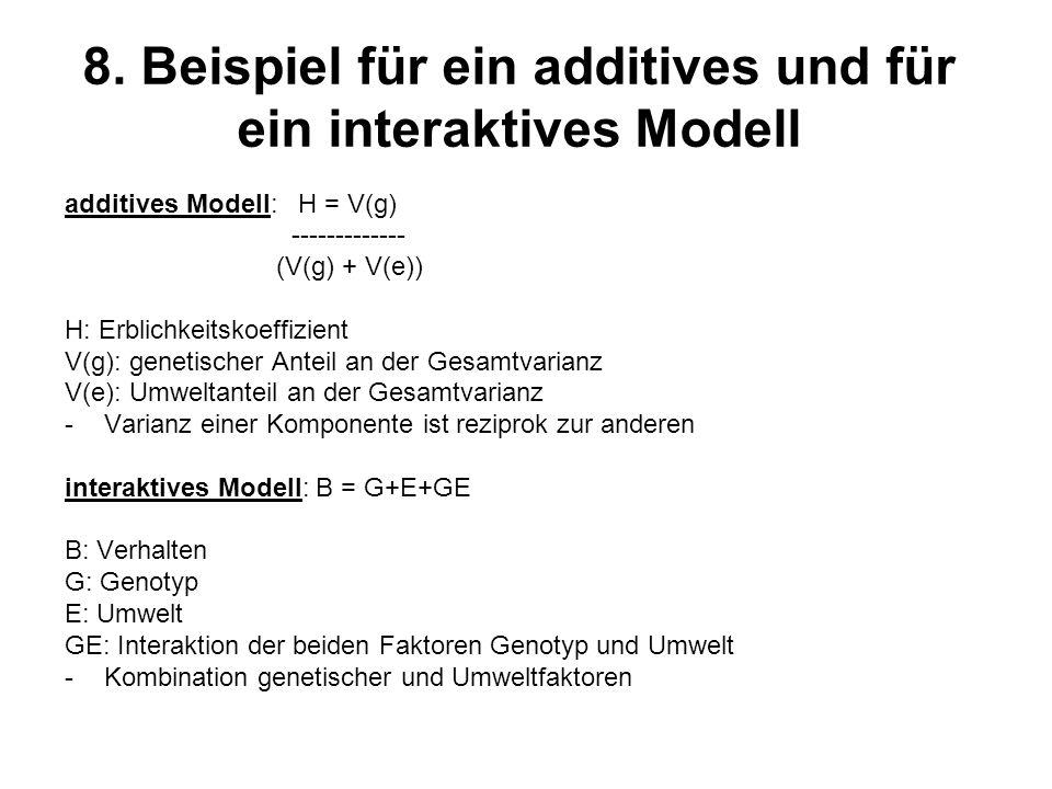 8. Beispiel für ein additives und für ein interaktives Modell
