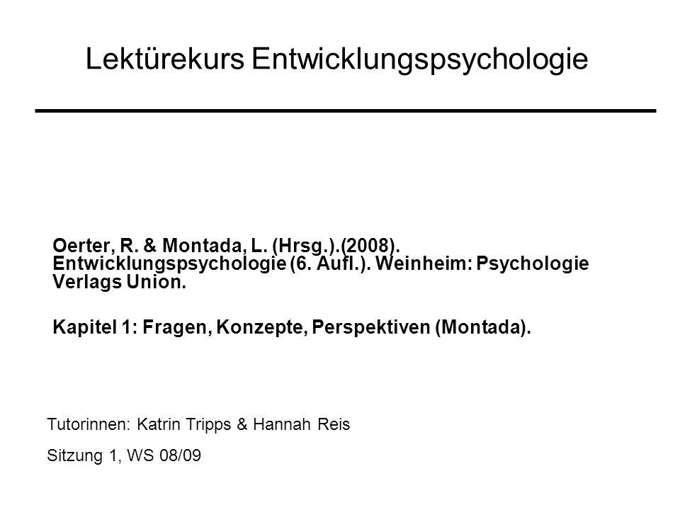 Lektürekurs Entwicklungspsychologie