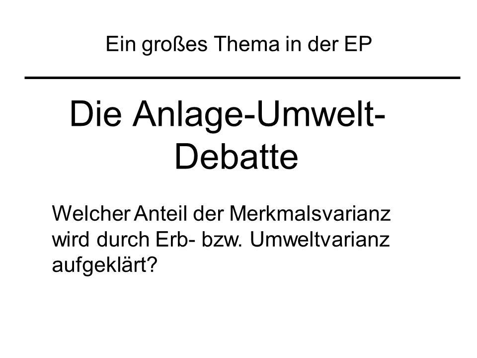 Ein großes Thema in der EP