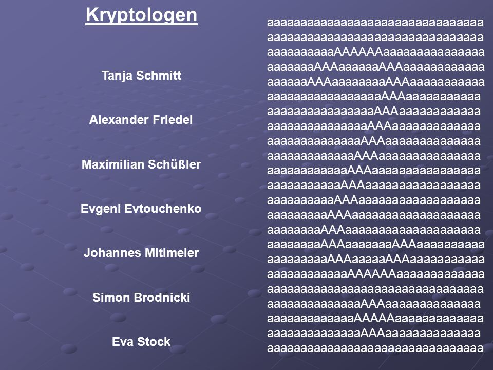 Oberkryptologen Kryptologen