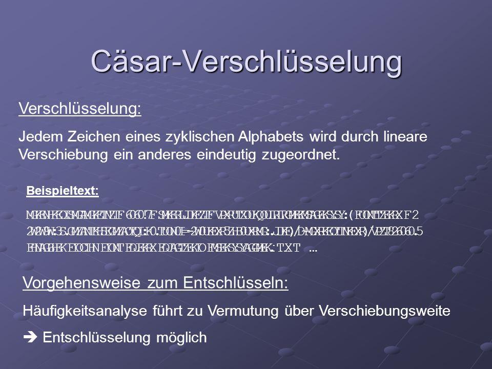 Cäsar-Verschlüsselung