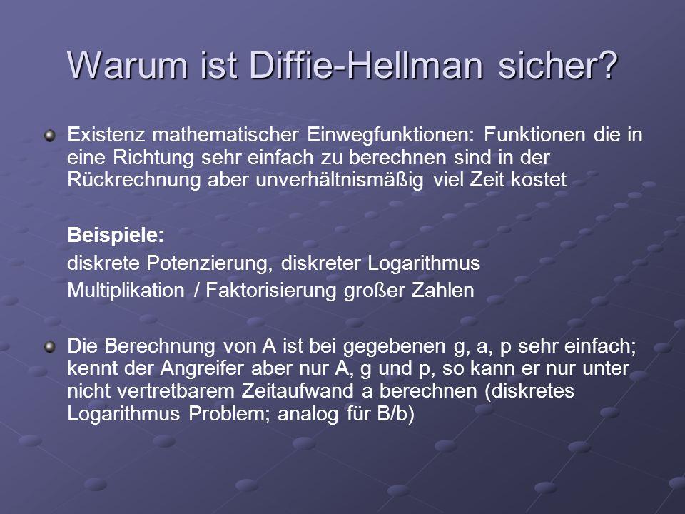 Warum ist Diffie-Hellman sicher