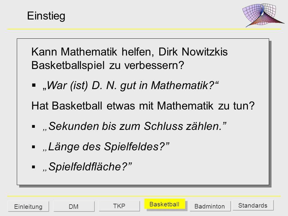 Kann Mathematik helfen, Dirk Nowitzkis Basketballspiel zu verbessern