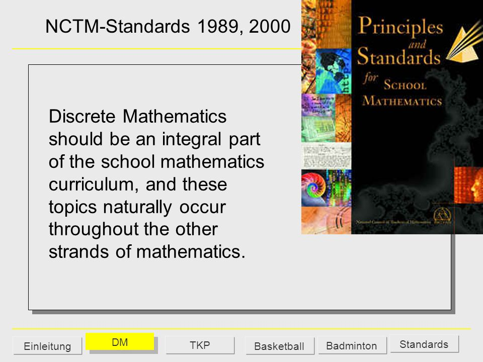 NCTM-Standards 1989, 2000