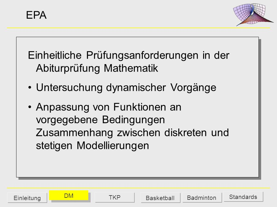 Einheitliche Prüfungsanforderungen in der Abiturprüfung Mathematik
