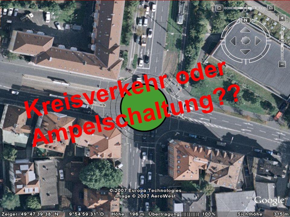 Kreisverkehr oder Ampelschaltung