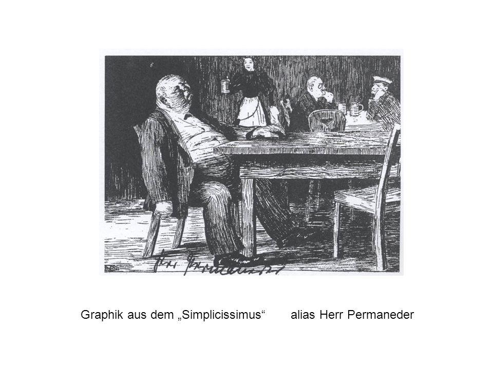 """Graphik aus dem """"Simplicissimus alias Herr Permaneder"""