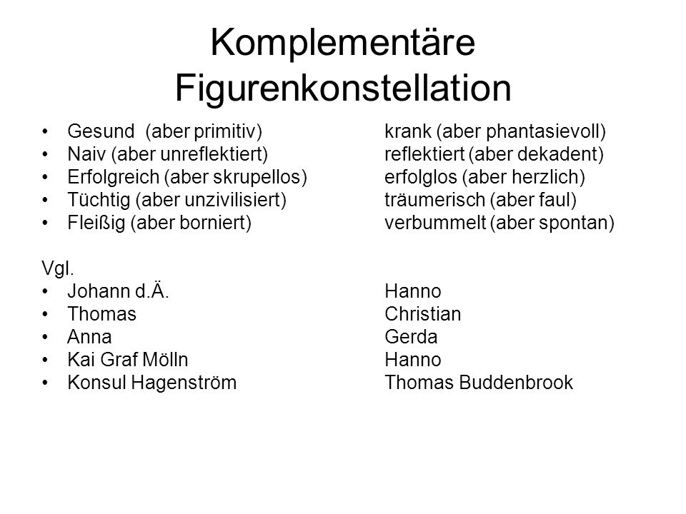 Komplementäre Figurenkonstellation