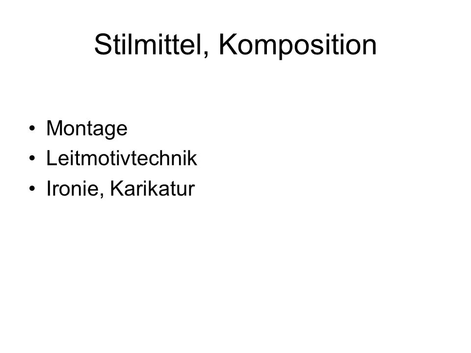 Stilmittel, Komposition