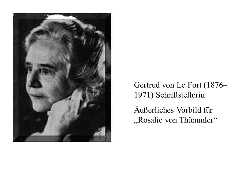 Gertrud von Le Fort (1876–1971) Schriftstellerin