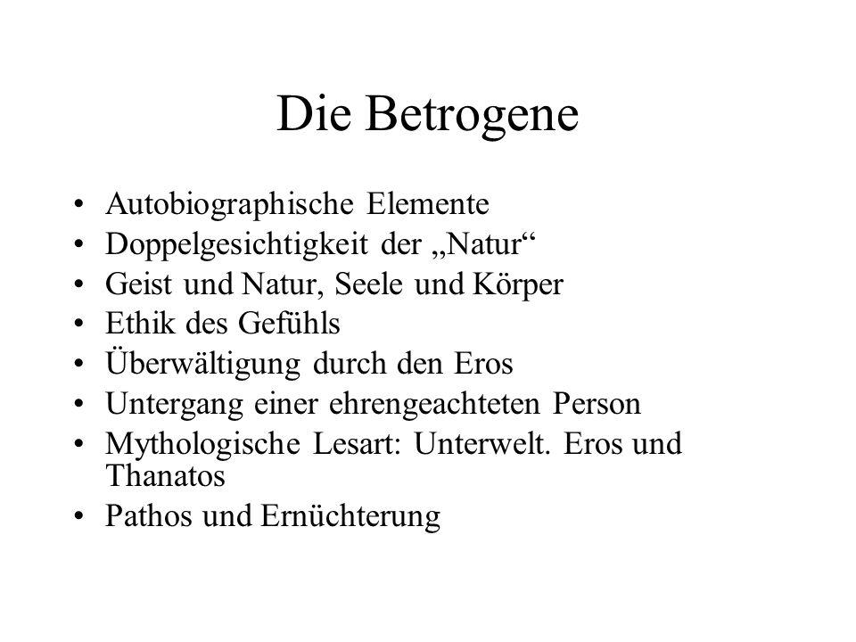Die Betrogene Autobiographische Elemente