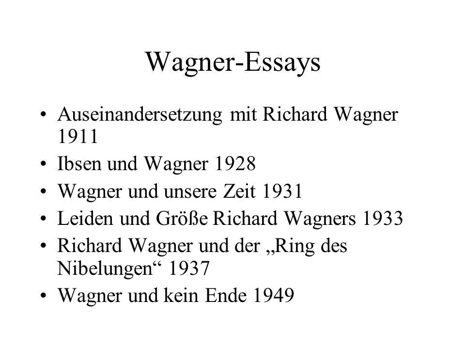 Wagner-Essays Auseinandersetzung mit Richard Wagner 1911