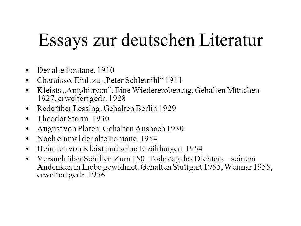 Essays zur deutschen Literatur