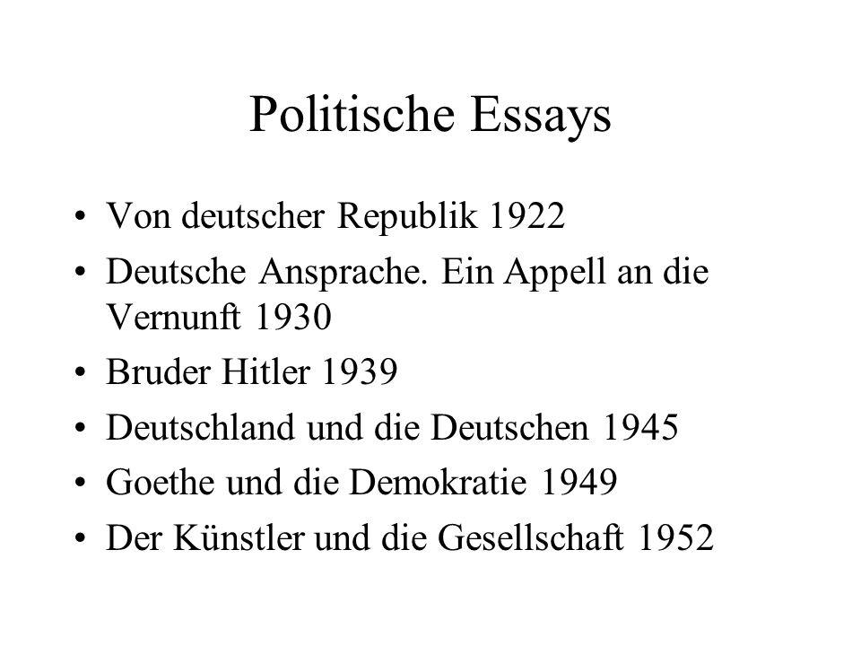 Politische Essays Von deutscher Republik 1922
