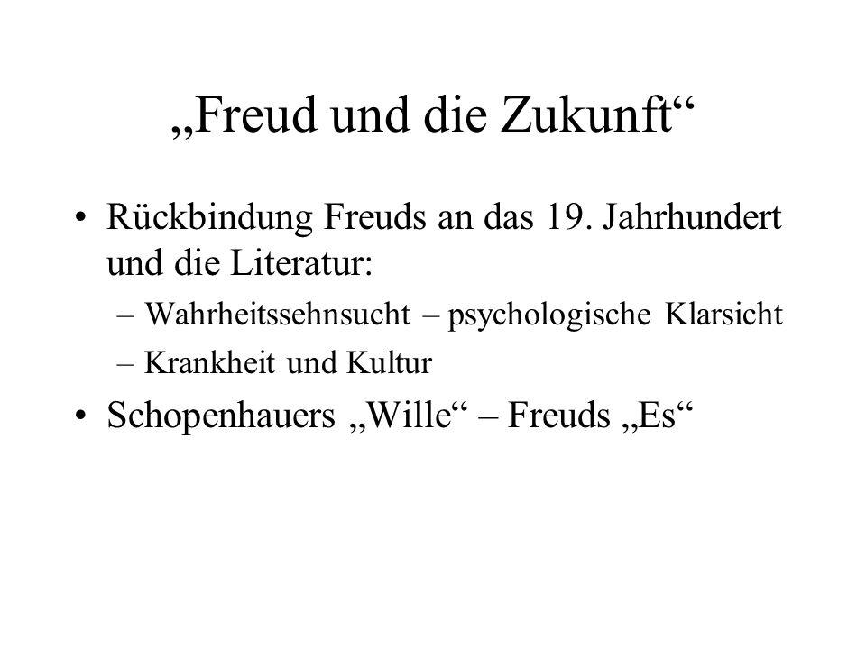"""""""Freud und die Zukunft"""