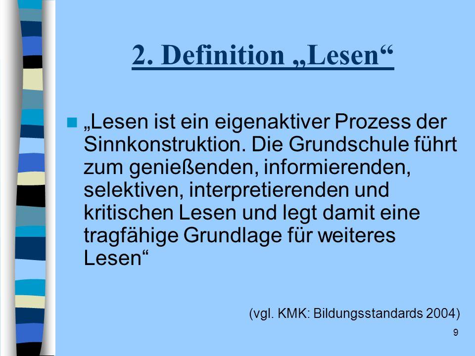 """2. Definition """"Lesen"""