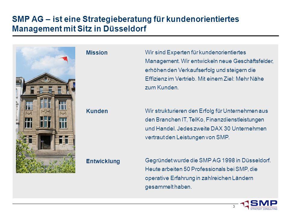 SMP AG – ist eine Strategieberatung für kundenorientiertes Management mit Sitz in Düsseldorf