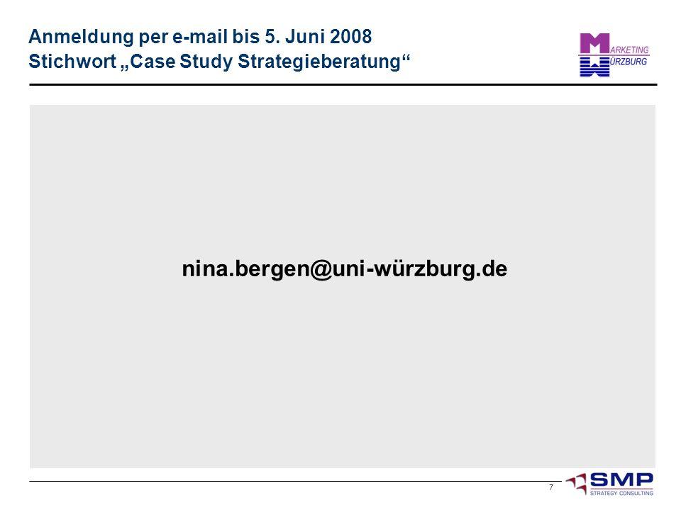 Anmeldung per e-mail bis 5