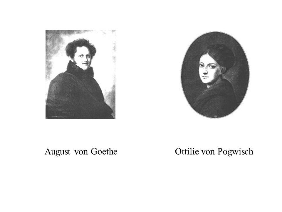 August von Goethe Ottilie von Pogwisch
