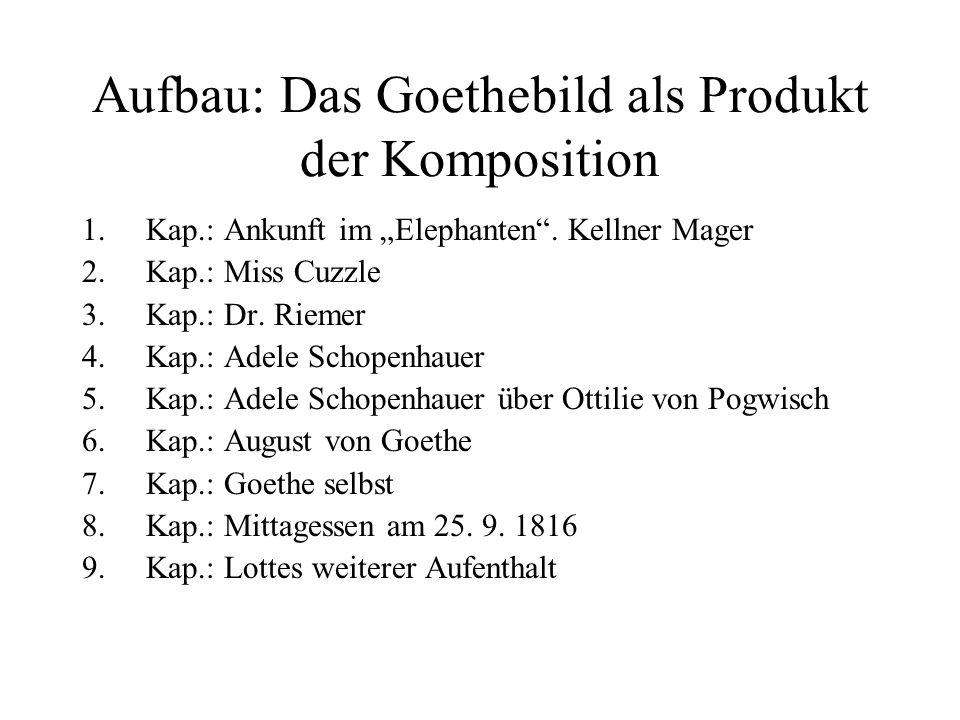 Aufbau: Das Goethebild als Produkt der Komposition