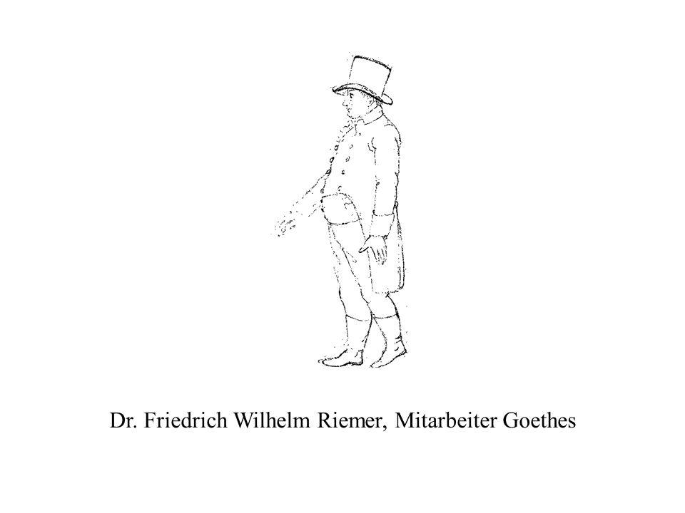 Dr. Friedrich Wilhelm Riemer, Mitarbeiter Goethes