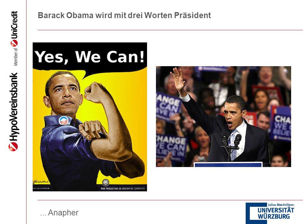 Barack Obama wird mit drei Worten Präsident
