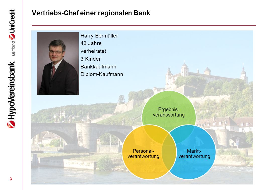 Vertriebs-Chef einer regionalen Bank