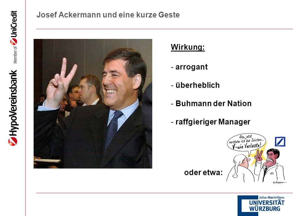 Josef Ackermann und eine kurze Geste