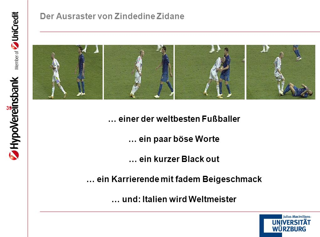Der Ausraster von Zindedine Zidane