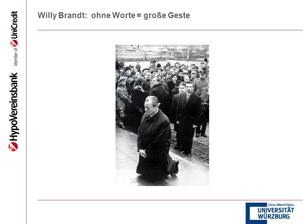 Willy Brandt: ohne Worte = große Geste
