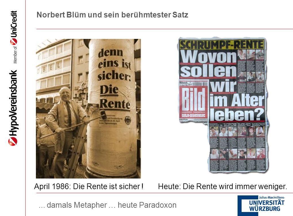 Norbert Blüm und sein berühmtester Satz
