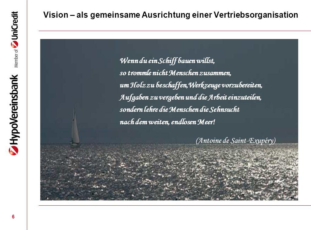 Vision – als gemeinsame Ausrichtung einer Vertriebsorganisation