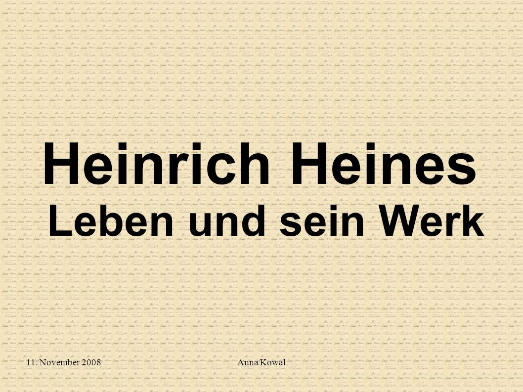Heinrich Heines Leben und sein Werk