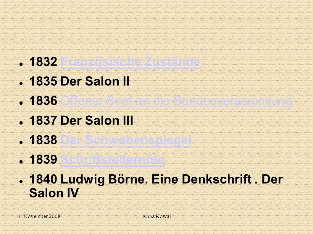 1832 Französische Zustände 1835 Der Salon II