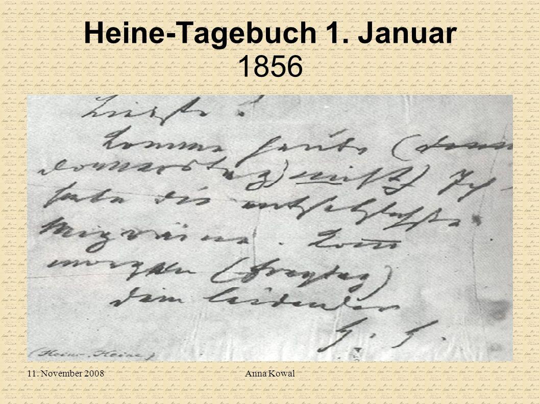 Heine-Tagebuch 1. Januar 1856