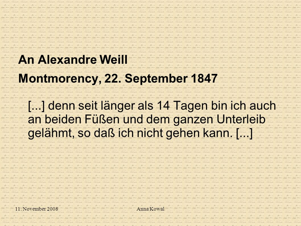 An Alexandre Weill
