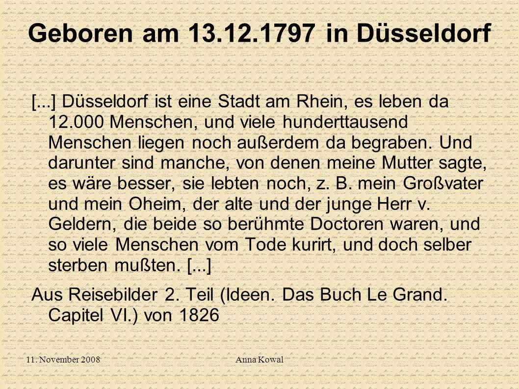Geboren am 13.12.1797 in Düsseldorf