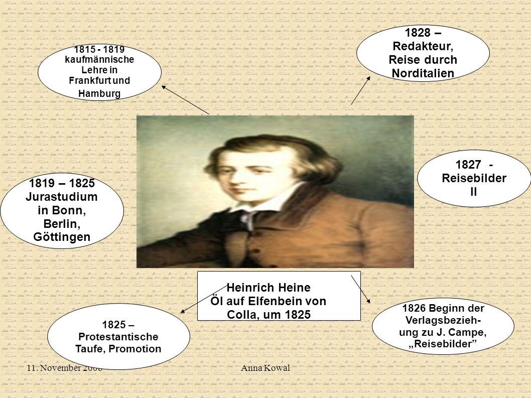 1828 – Redakteur, Reise durch Norditalien