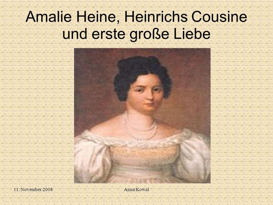 Amalie Heine, Heinrichs Cousine und erste große Liebe