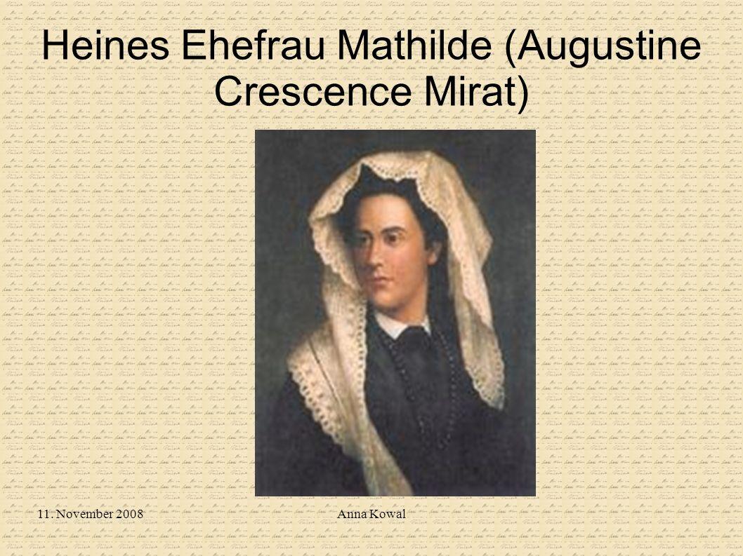 Heines Ehefrau Mathilde (Augustine Crescence Mirat)