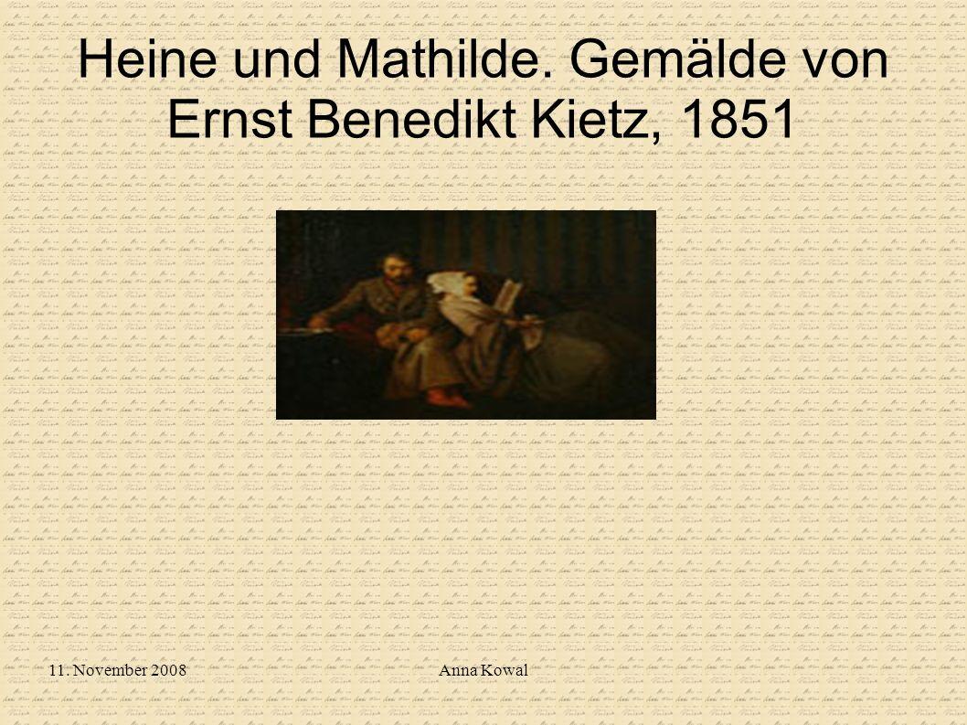 Heine und Mathilde. Gemälde von Ernst Benedikt Kietz, 1851