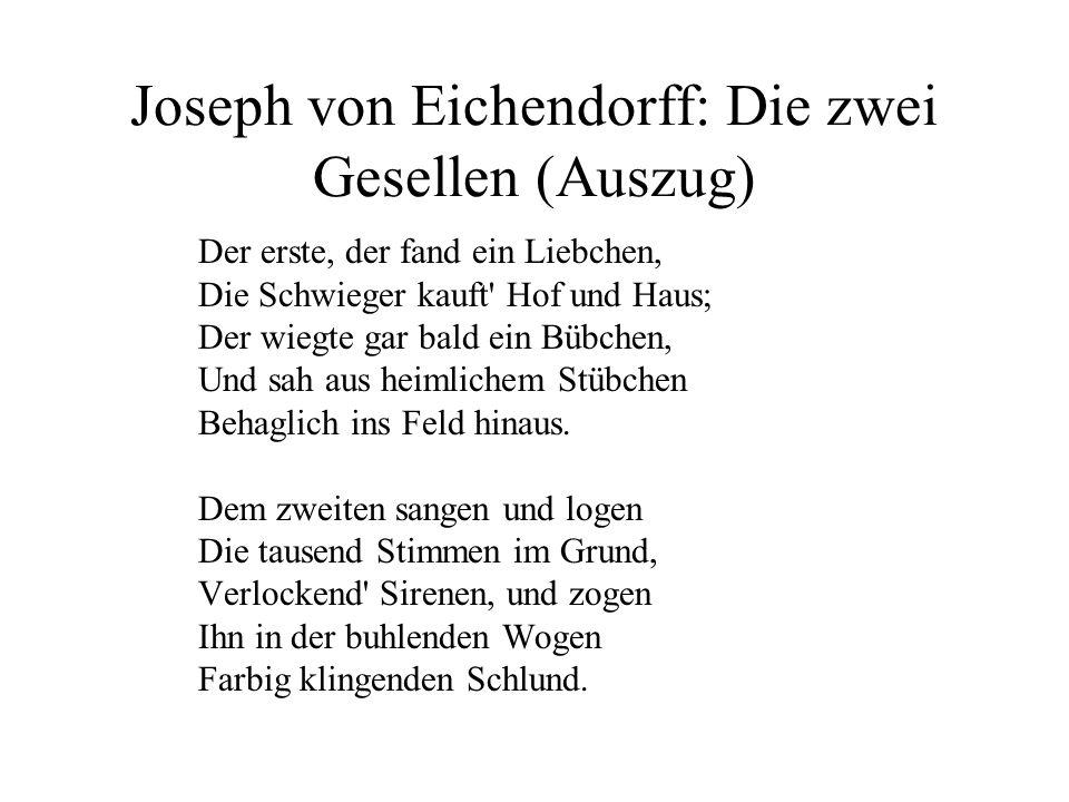 Joseph von Eichendorff: Die zwei Gesellen (Auszug)